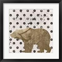Framed Forest Glam Bear