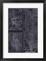 Framed New York Street Map