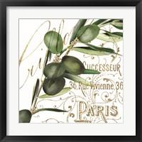 Framed Paris Olives I