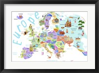 Framed Illustrated Countries of Europe