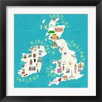 Framed Illustrated Countries UK + Ireland