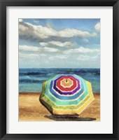 Beach Umbrella I Framed Print