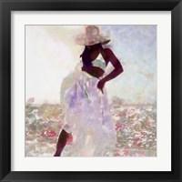 Framed Her Colorful Dance I