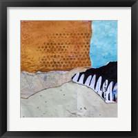 Framed High Texture Abstract III