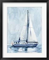 Lone Sailboat II Framed Print