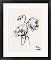 Framed Annual Flowers VIII