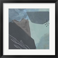 Steely Abstract I Framed Print
