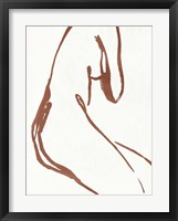 Curves I Framed Print