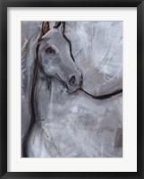 White Horse Contour I Framed Print