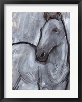 White Horse Contour II Framed Print