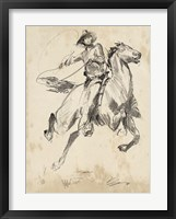 King of the Rodeo I Framed Print