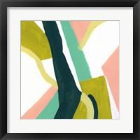 Ribbon Relief II Framed Print