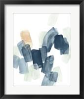 Indigo Facets I Framed Print