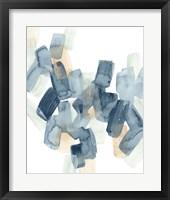 Indigo Facets II Framed Print