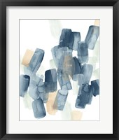 Indigo Facets III Framed Print