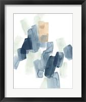 Indigo Facets IV Framed Print