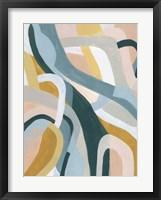 Pastel Puzzle II Framed Print