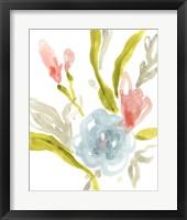 Floral Sonata I Framed Print