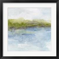 Watermark Shoreline I Framed Print