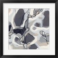 Graphite Swirl I Framed Print