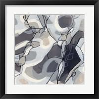 Graphite Swirl II Framed Print