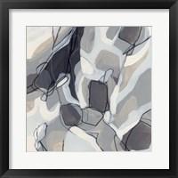 Graphite Swirl III Framed Print