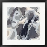 Graphite Swirl IV Framed Print