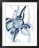 Blue Floral Burst II Framed Print