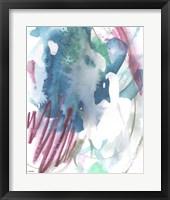 Magenta Wave Form II Framed Print