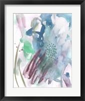 Magenta Wave Form IV Framed Print