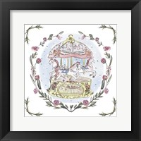 Winter Carousel I Framed Print