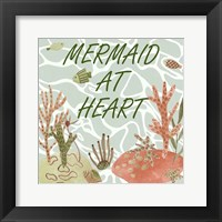 Mermaid at Heart I Framed Print