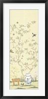 Framed Hemmerling Linen Chinoiserie III