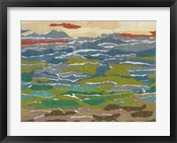 Stratified Landscape II Framed Print
