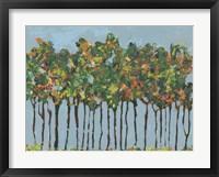 Sunset Trees III Framed Print