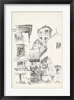 Vintage Italian Village II Framed Print