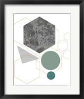Marbled Deco II Framed Print