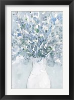 Powder Blue Arrangement in Vase II Framed Print