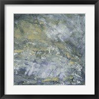 Encaustic Tile in Blue I Framed Print