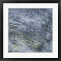Encaustic Tile in Blue II Framed Print