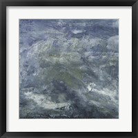 Encaustic Tile in Blue III Framed Print