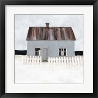 Beach Hut IV Framed Print