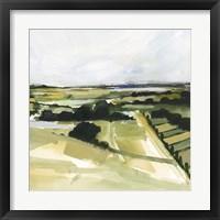 Patchy Landscape I Framed Print