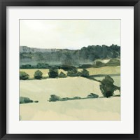 Textured Countryside I Framed Print