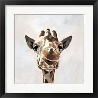 Giraffe's Gaze I Framed Print