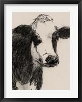 Cow Portrait Sketch I Framed Print