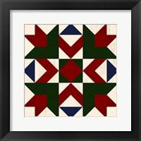 Christmas Barn Quilt III Framed Print