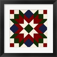 Christmas Barn Quilt IV Framed Print