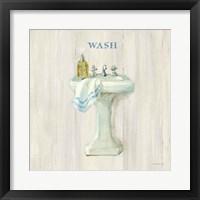 Farmhouse Sink Wash Framed Print