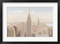 Framed Manhattan Dawn Gold and Neutral